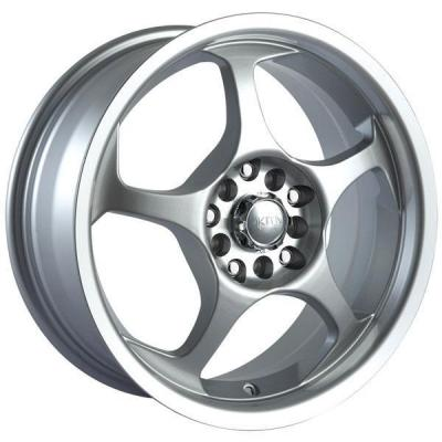 SPECIAL BUY WHEELS  AKITA RACING AK90 HYPERSILVER RIM with MACHINED LIP and HUB PPT DISPLAY SET 1 SET ONLY