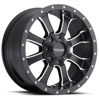 RACELINE WHEELS   927M MAMBA HD BLACK RIM with MACHINED ACCENTS