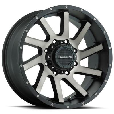 RACELINE WHEELS   932DM TWIST SATIN BLACK MACHINED RIM with DARK TINT