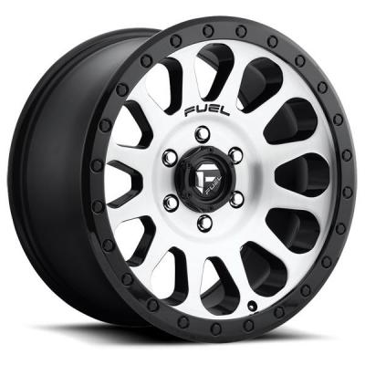 FUEL OFFROAD WHEELS  VECTOR D580 BLACK RIM with BRUSHED FACE and BLACK RING