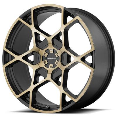 KMC WHEELS  KM695 CROSSHAIR SATIN BLACK RIM with MACHINED FACE and TINTED CLEAR