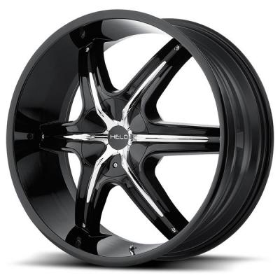 HELO WHEELS  HE891 GLOSS BLACK RIM with ACCENTS