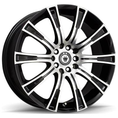KONIG WHEELS   CROWN GLOSS BLACK RIM with MACHINED FACE