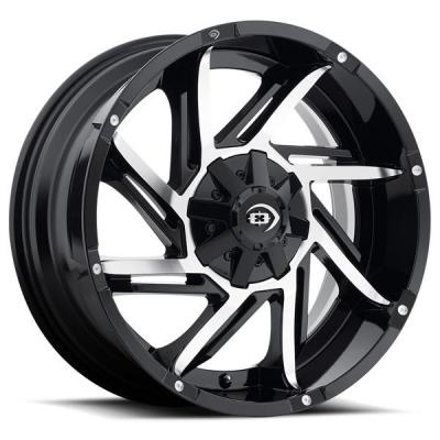VISION WHEELS   PROWLER 422 OFF-ROAD GLOSS BLACK RIM with MACHINED FACE