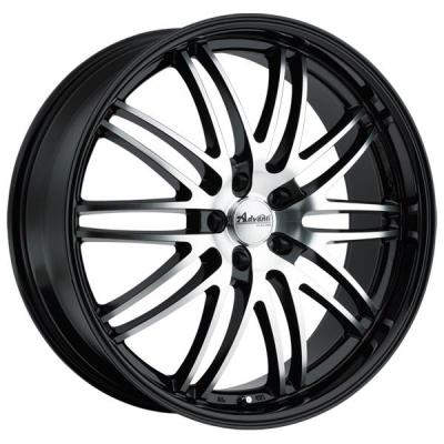 ADVANTI WHEELS   PRODIGO GLOSS BLACK RIM with MACHINED FACE