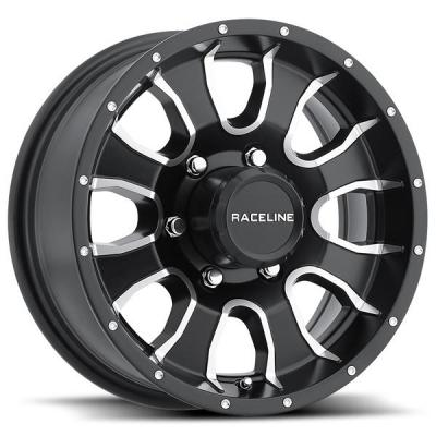 RACELINE WHEELS   860M TRAILER MAMBA BLACK MACHINED RIM