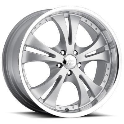 VISION WHEELS   SHOCKWAVE 539 FWD SILVER RIM with MACHINE LIP