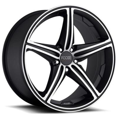 FOOSE WHEELS  SPEED F136 MATTE BLACK RIM with MACHINED FACE