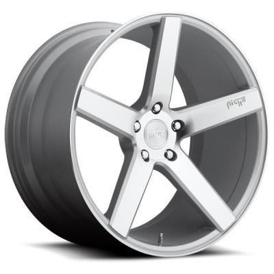 NICHE WHEELS  MILAN M135 SILVER MACHINED RIM