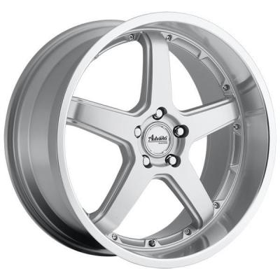 SPECIAL BUY WHEELS  ADVANTI A2 TRAKTION SILVER RIM with MACHINED LIP