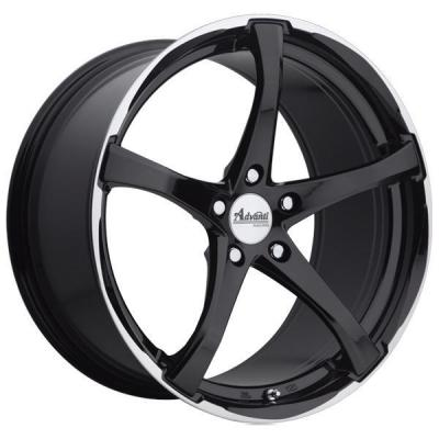 SPECIAL BUY WHEELS  ADVANTI B2 DENARO GLOSS BLACK/MACHINED RIM