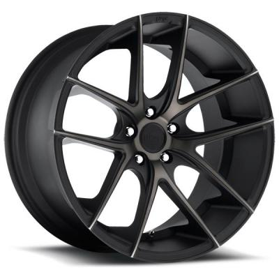 NICHE WHEELS  TARGA M130 BLACK RIM with MACHINED FACE DDT