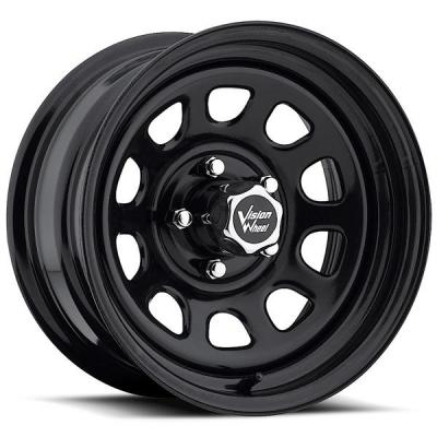 VISION WHEELS   D-WINDOW 84 RWD BLACK RIM cap is additional $15 each