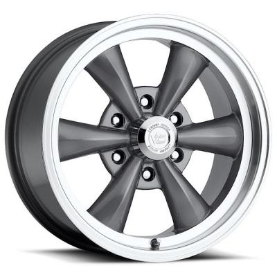 VISION WHEELS   LEGEND 6 TYPE 141 GUNMETAL RIM with MACHINED LIP
