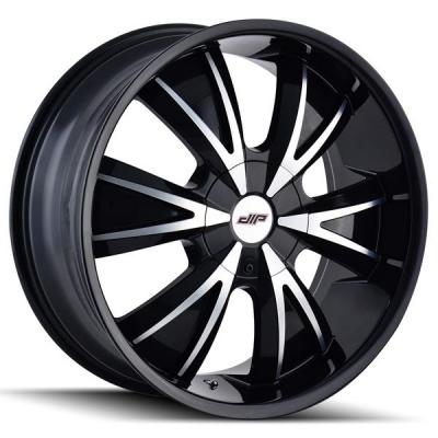 DIP WHEELS  VIBE D38 GLOSS BLACK RIM with MACHINED FACE