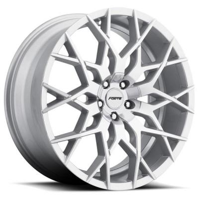 FORTE WHEELS   F71 MISTRESS SILVER MACHINED RIM