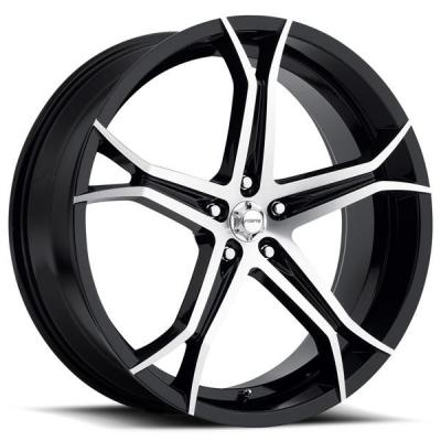 FORTE WHEELS   F70 JEKYLL BLACK RIM with MIRROR FACE