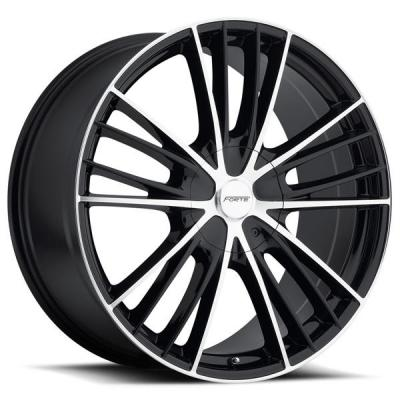 FORTE WHEELS   F67 NIGHT MOVES BLACK RIM with MIRROR FACE