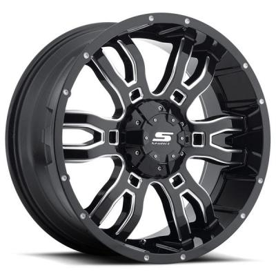 SENDEL WHEELS   SENDEL S34 SNIPER GLOSS BLACK RIM with MILLED ACCENTS