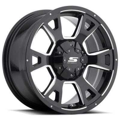 SENDEL WHEELS   SENDEL S32 SPOTTER GLOSS BLACK RIM with MILLED ACCENTS