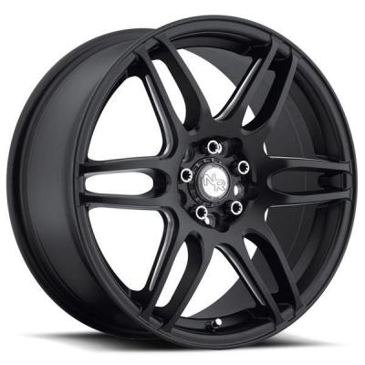SPECIAL BUY WHEELS  NICHE NR6 M106 MATTE BLACK RIM with MILLED SPOKES DISPLAY SET 1 SET ONLY - SOLD AS IS