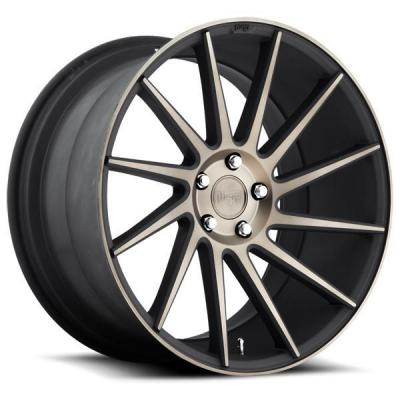SPECIAL BUY WHEELS  NICHE SURGE M114 BLACK RIM with MACHINED FACE DDT DIRECTIONAL DISPLAY SET 1 SET ONLY - SOLD AS IS