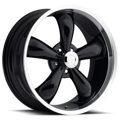 VISION WHEELS   LEGEND 5 TYPE 142 BLACK RIM with MACHINED LIP