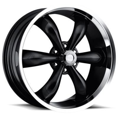 VISION WHEELS   LEGEND 6 TYPE 142 BLACK RIM with MACHINED LIP