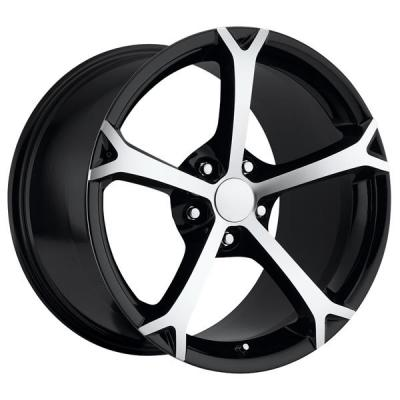 FACTORY REPRODUCTIONS WHEELS  CORVETTE C6 GRAND SPORT 2010 STYLE 19 BLACK RIM with MACHINED FACE