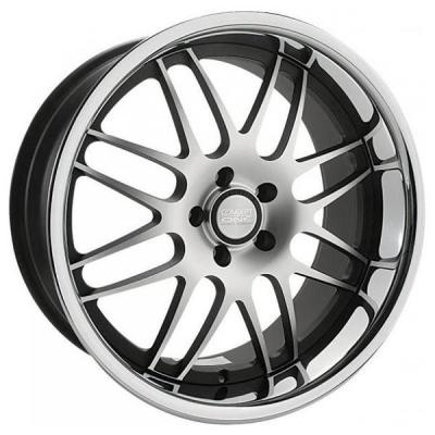 CONCEPT ONE WHEELS  RS-8 BLACK RIM with MACHINED FACE