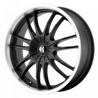 SPECIAL BUY WHEELS  HELO HE845 GLOSS BLACK MACHINED RIM PPT SET OF 4
