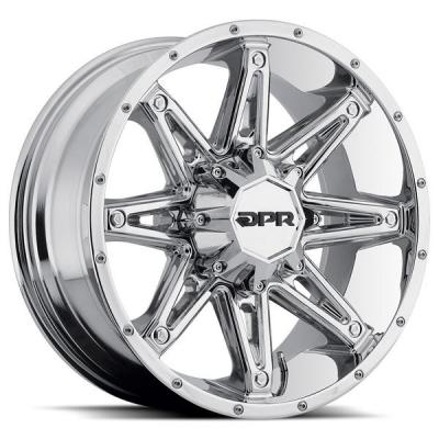 SPECIAL BUY WHEELS  DPR OFFROAD 800 GLOC CHROME RIM DISPLAY SET 1 SET ONLY - SOLD AS IS