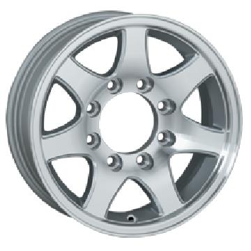 SENDEL WHEELS  T02 TRAILER SILVER MACHINED RIM