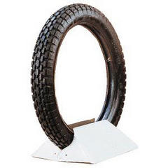 ENGELBRECHT MOTORCYCLE TIRE  ENGELBRECHT MOTORCYCLE TIRE ANTIQUE WHITEWALL TIRE 350-19