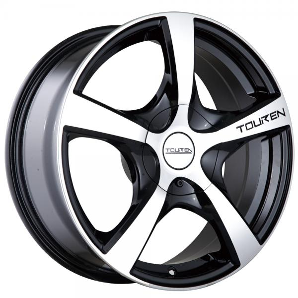 TR9 BLACK RIM with MACHINED FACE by TOUREN WHEELS