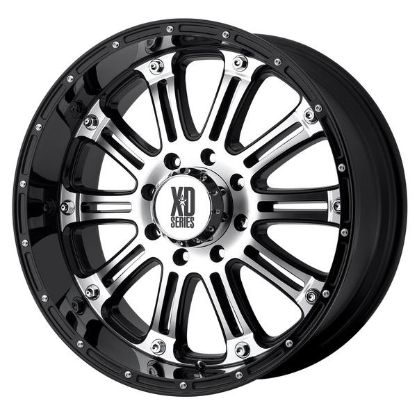 XD795 HOSS GLOSS BLACK RIM with MACHINED FACE by XD SERIES WHEELS