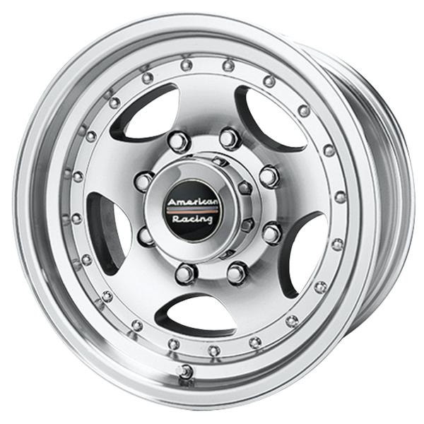 AR23 MACHINED RIM with CLEAR COAT FINISH by AMERICAN RACING WHEELS