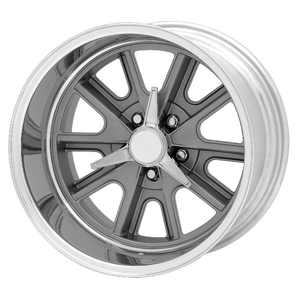 VN427 COBRA GRAY WHEEL with POLISHED RIM by AMERICAN RACING WHEELS