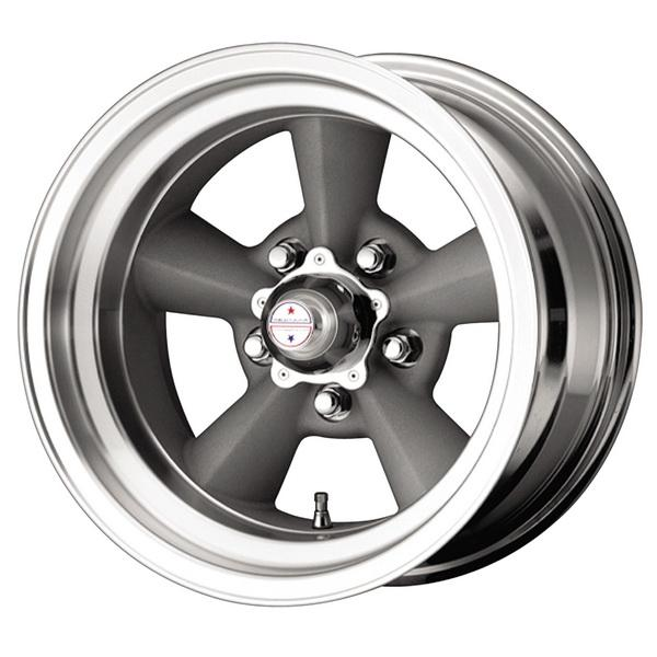 VN309 TORQ THRUST ORIGINAL GREY RIM with MACHINED LIP by AMERICAN RACING WHEELS