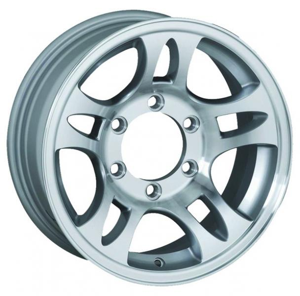 T03 TRAILER SILVER MACHINED RIM by SENDEL WHEELS