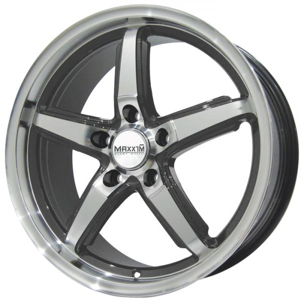 ALLEGRO GRAPHITE RIM with MACHINED FACE by MAXXIM WHEELS