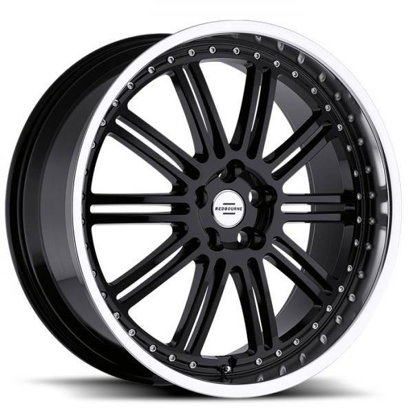 MARQUES GLOSS BLACK RIM with MIRROR CUT FACE and LIP by REDBOURNE WHEELS