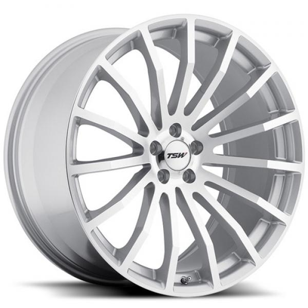MALLORY 5 SILVER RIM with MIRROR CUT FACE by TSW WHEELS