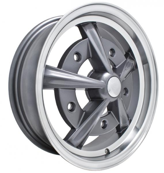 RAIDER ANTHRACITE RIM with POLISHED LIP by EMPI VINTAGE VW