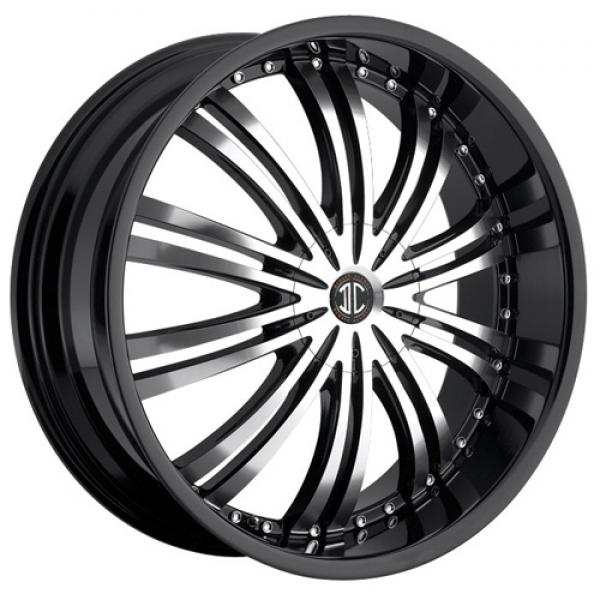 2 CRAVE N01 BLACK/MACHINED RIM with BLACK LIP by 2 CRAVE WHEELS