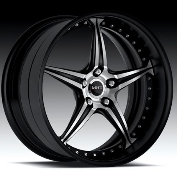 CLIENTI GLOSS BLACK RIM with MACHINED FACE by MHT FORGED EDITION