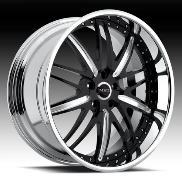 CORSICA BLACK/BRUSHED RIM with CHROME LIP by MHT FORGED EDITION