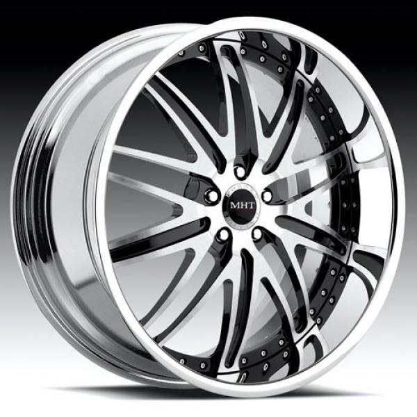 CORSICA BRUSHED/BLACK RIM with CHROME LIP by MHT FORGED EDITION