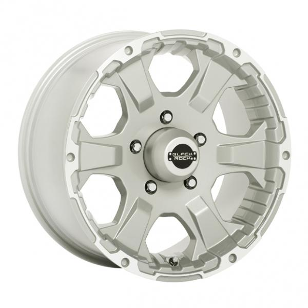 910S INTRUDER SILVER RIM with MACHINED ACCENTS by BLACK ROCK WHEELS