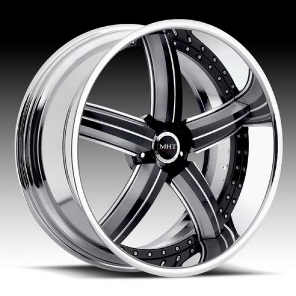 SUEDE CHROME RIM with BLACK ACCENTS by MHT FORGED EDITION